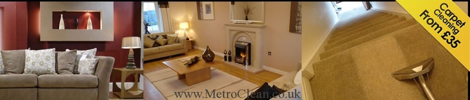 Carpet cleaning services by MetroClean Ltd