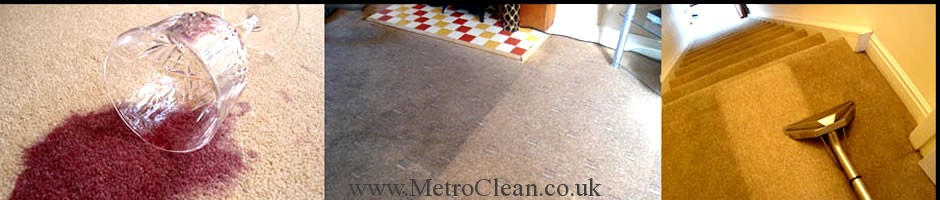 Professional carpet cleaning services by MetroClean